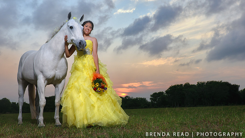 JT with her horse Dusty Quinceanera