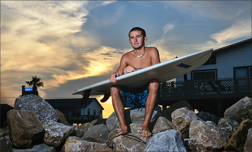 Senior Surfer Surfside Texas